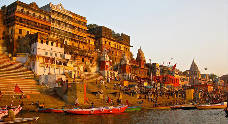 Ghats On Ganges Varanasi